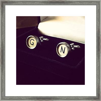 #cufflinks Made Out Of #vintage Framed Print