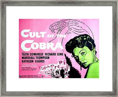 Cult Of The Cobra, Faith Domergue Framed Print by Everett