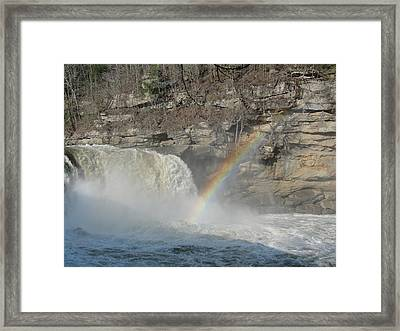 Framed Print featuring the photograph Cumberland Falls by Tiffany Erdman
