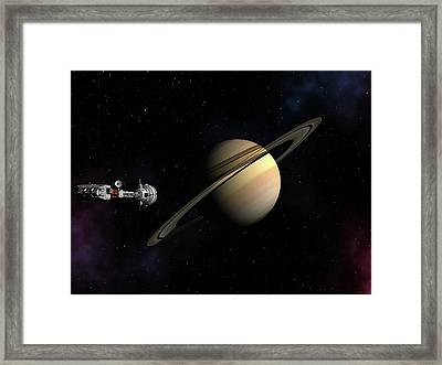 Cumberland Passing Saturn Framed Print