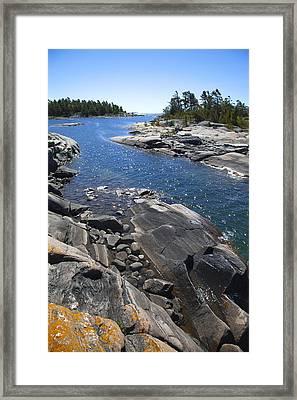 Cunningham Bay Framed Print by John  Bartosik