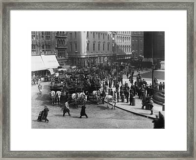 Cup Final Traffic Framed Print by Topical Press Agency