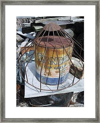 Cup Grease Framed Print by Todd Sherlock