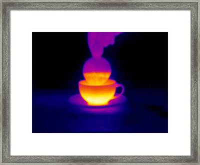 Cup Of Tea, Thermogram Framed Print