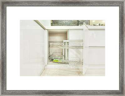 Cupboard With Stainless Steel Racks Framed Print