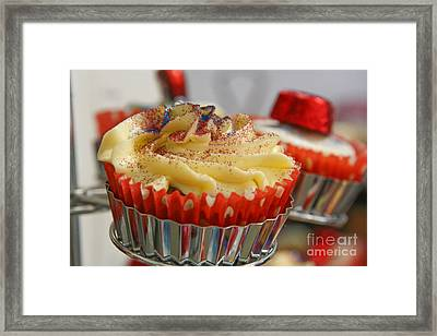 Cupcake Framed Print by Jo