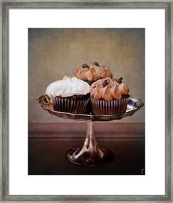 Cupcake Trio Framed Print by Jai Johnson