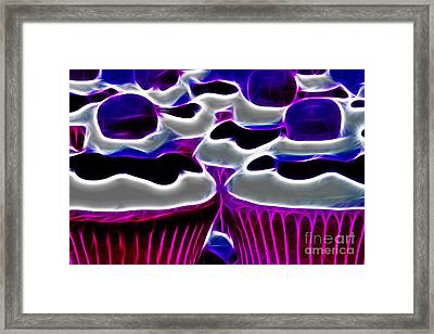 Cupcakes - Electric - Violet Framed Print by Wingsdomain Art and Photography