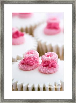 Cupcakes For A Baby Shower Framed Print