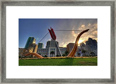 Framed Print featuring the photograph Cupid's Span by John Maffei