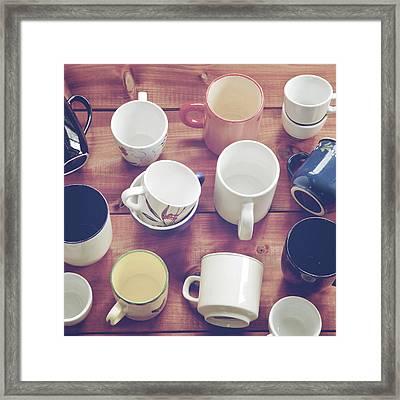 Cups Framed Print by Joana Kruse