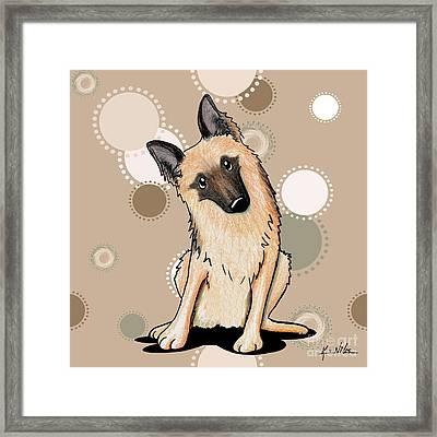 Curious German Shepherd Framed Print by Kim Niles