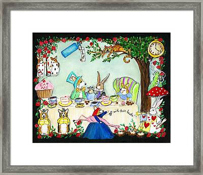 Curiouser And Curiouser Framed Print by Cathy Santarsiero