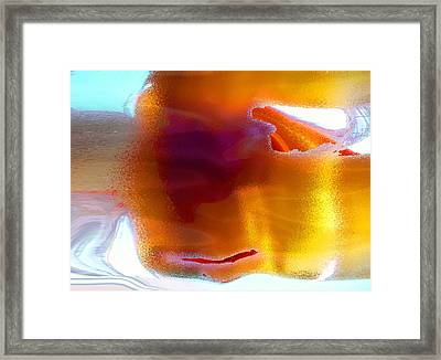 Framed Print featuring the digital art Curiously Refreshing by Ginny Schmidt