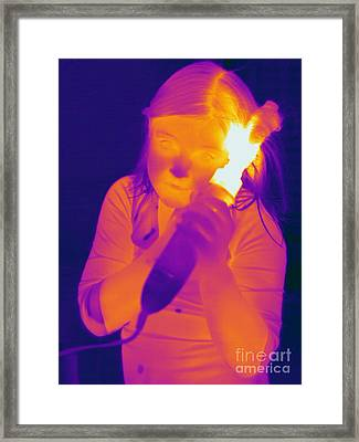 Curling Iron Framed Print