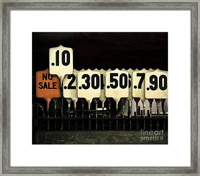 Currency Framed Print by Glennis Siverson