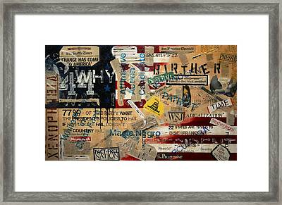 Current Events Framed Print by A Diaz