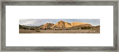 Curry Mountain Panorama Framed Print by Larry Darnell