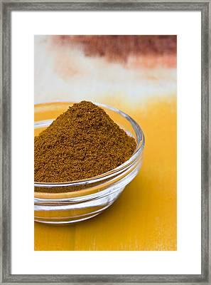 Curry Powder Framed Print by Frank Tschakert