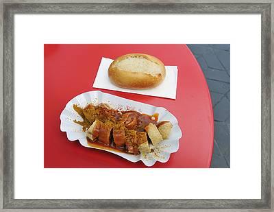 Currywurst - German Food - Curried Sausage Framed Print