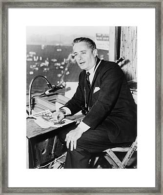 Curt Gowdy, Sportscaster And Voice Framed Print by Everett