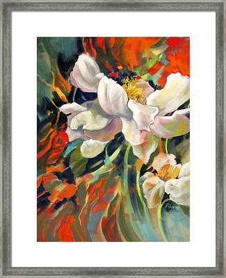 Framed Print featuring the painting Curtain Call by Rae Andrews