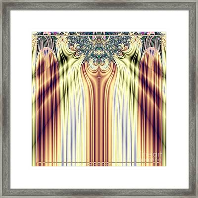 Curtain Call Spotlights Fractal 133 Framed Print by Rose Santuci-Sofranko