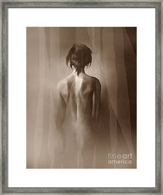 Curtain Glow Framed Print by Robert Foster