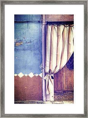 Curtain Framed Print by Joana Kruse