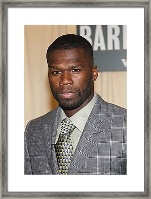 Curtis 50 Cent Jackson At In-store Framed Print by Everett