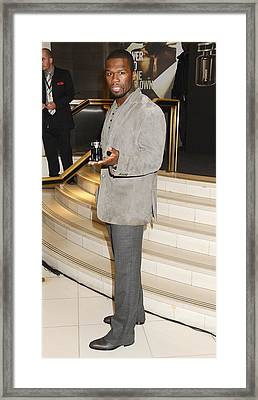 Curtis Jackson, Aka 50 Cent At In-store Framed Print by Everett