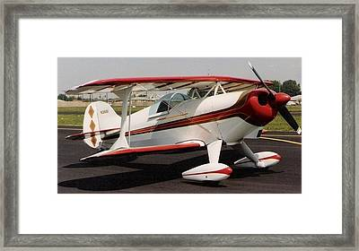 Curtis Pitts S1d Aerobatic Biplane Framed Print