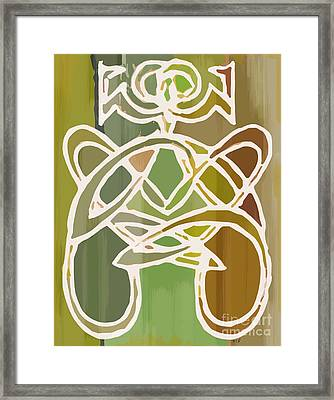 Unique Earthy Ethnic Woman Abstract Print For Interior Design Framed Print by Marie Christine Belkadi