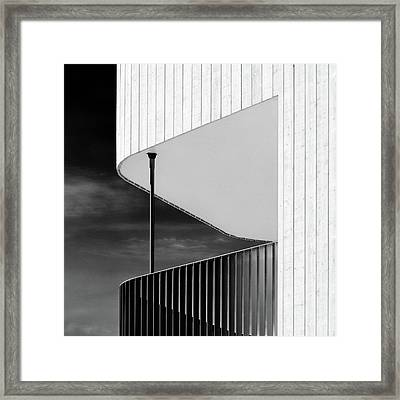 Curved Balcony Framed Print by Dave Bowman
