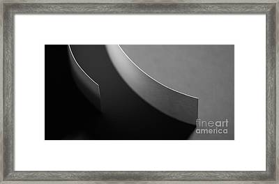 Curved Framed Print by Gabriela Insuratelu