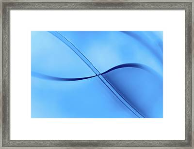 Curved Intersecting Lines Framed Print