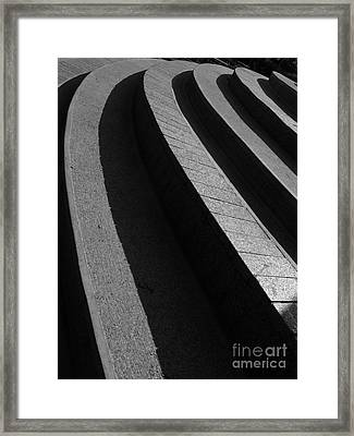 Curved Staircase Framed Print by Yali Shi