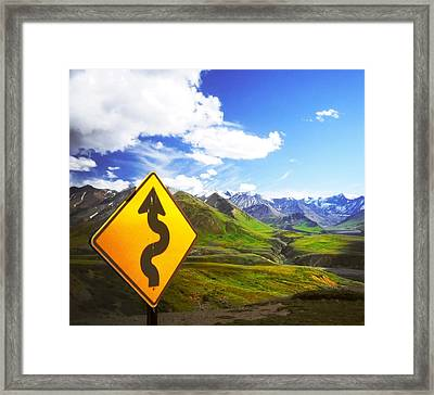 Curves Ahead Framed Print by Ulrich Mueller