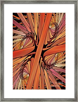 Curves In Abstract Framed Print by Deborah Benoit