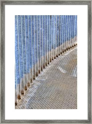 Curved Metal Walkway Framed Print by Jean Noren