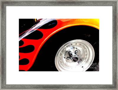Framed Print featuring the digital art Curves Of Flames by Tony Cooper