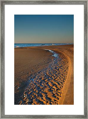 Curving To The Sea I Framed Print by Steven Ainsworth