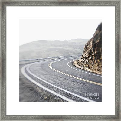 Curving Two Lane Road Framed Print by Jetta Productions, Inc