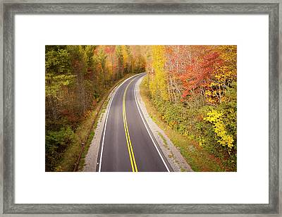 Curvy Road Blue Ridge Parkway, North Carolina Framed Print by Lightvision, LLC
