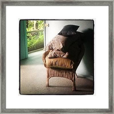 Cushions Framed Print