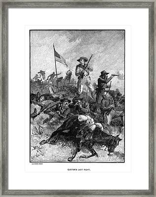 Custers Last Fight Framed Print by Granger