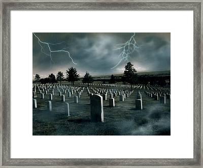 Custer's Last Stand - Battle Of Little Big Horn Framed Print