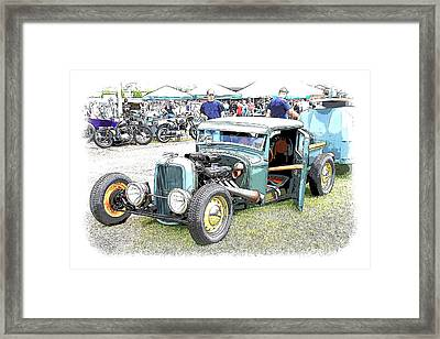 Custom 32 Ford Pickup Framed Print by Steve McKinzie