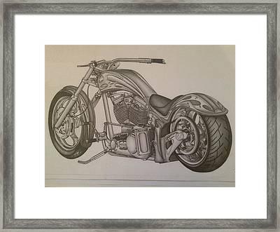 Custom Chopper Framed Print
