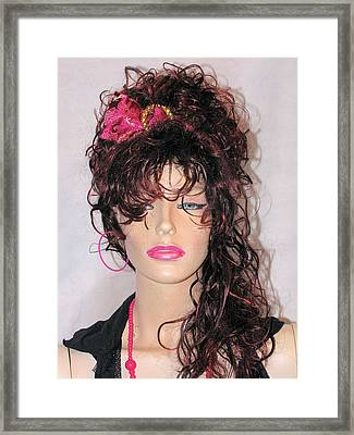 Custom Headband  Framed Print by HollyWood Creation By linda zanini